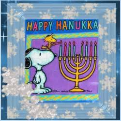 Greetings Happy Snoopy Hanukkah
