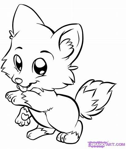Animals Pages Clipart Fox Colouring Animal Coloring