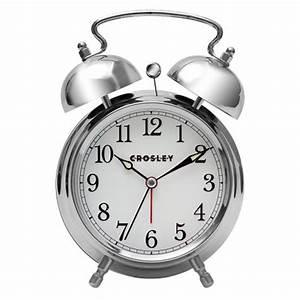 Analog Alarm Clock Silver - Crosley® : Target