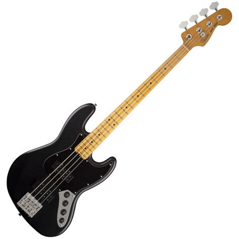 fender modern player jazz bass mn satin black at gear4music