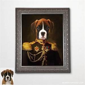 Pop Art Kleidung : hund boxer gem lde stil hund boxer in uniform barock rahmen ~ Indierocktalk.com Haus und Dekorationen