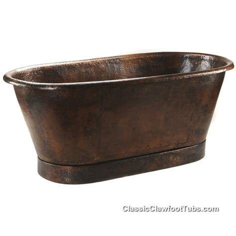 hammered copper double ended bathtub classic