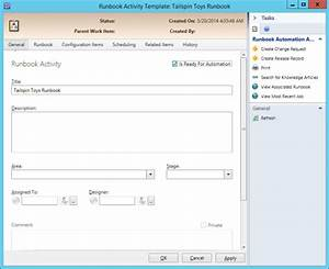 configure data center process automation using system With server runbook template
