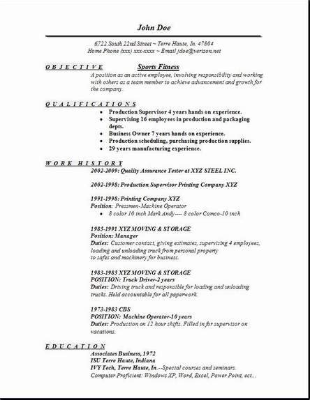 Fitness Resume Objective sports fitness resume occupational exles sles free edit with word
