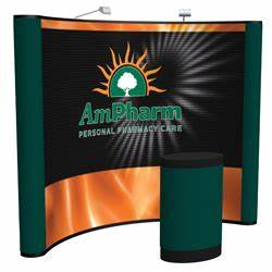 orbus templates - trade show display template coyote mural pop up display