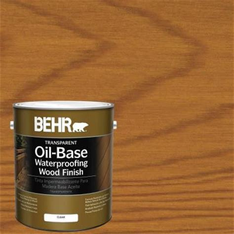 behr  gal  clear transparent oil based exterior