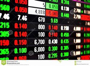 Stock Market Live Feed On Screen Stock Photography