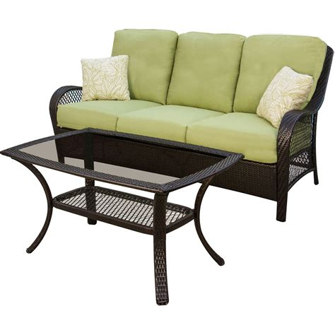 wicker settee set hanover orleans 4 wicker loveseat and chair set with