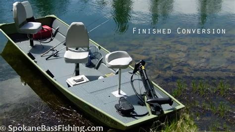 10ft Jon Boat Setup by Hd Jon Boat To Bass Boat Conversion Modification