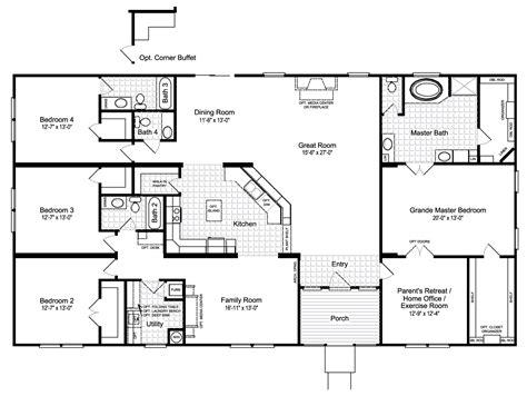 The Hacienda Iii 41764a Manufactured Home Floor Plan Or
