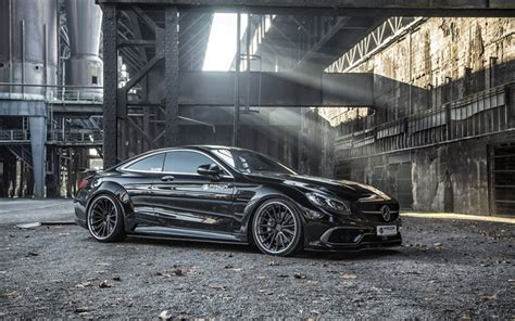 Download Wallpapers Mercedes-benz S-class, Coupe, Black