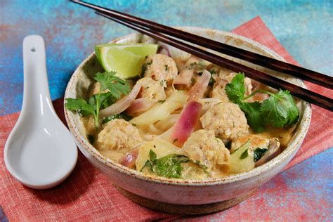 How to make thai chicken soup. Thai Chicken Meatball Noodle Soup | Allrecipes