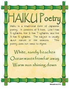 It's About Time, Teachers!: Haiku Poetry Freebie