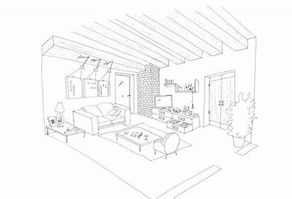 Coloring Interior Pages Living Rooms Salon Inside