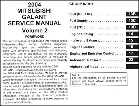 service manual pdf 2004 mitsubishi galant repair manual 28 2005 mitsubishi galant manual