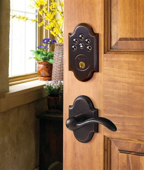 keyless door entry baldwin keyless entry deadbolt door locks ce pro