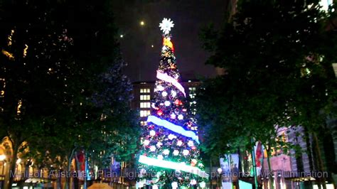 sydney 2015 martin place christmas tree lighting youtube