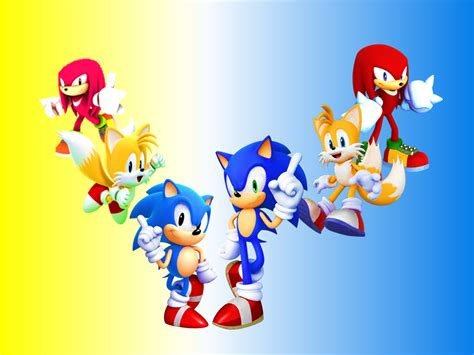 classic and modern sonic tails and knuckes by 9029561 on