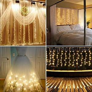Lights For Bedroom Amazon Neretva Window Curtain Icicle Lights 304 Leds String