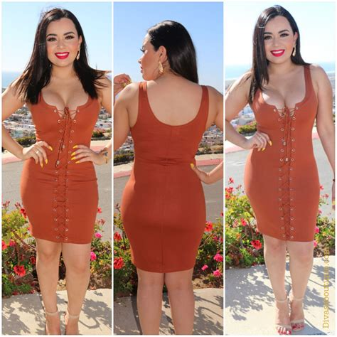 kaila lace up dress rust divas boutique