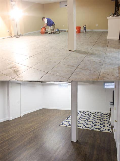 basement flooring shades  blue interiors