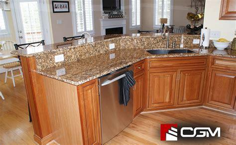 giallo fiorito classic granite kitchen countertops