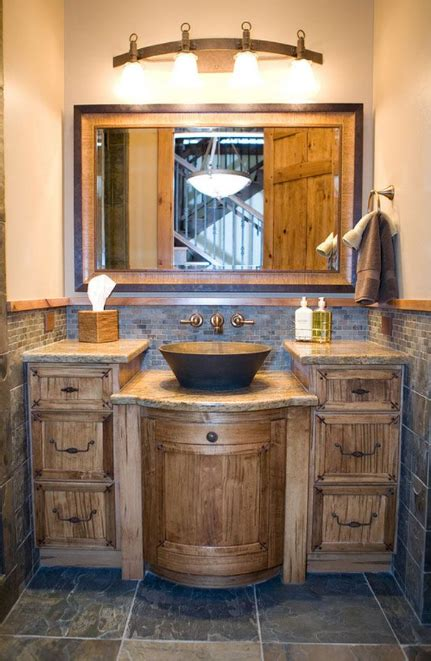Rustic Modern Bathroom Vanities by 35 Ideas For Rustic Bathroom Vanities Bathroom Ideas