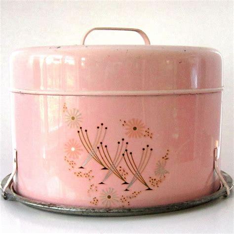 Vintage Möbel Küche by Vintage Pink Cake Carrier Etsy Altes Geschir