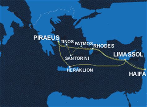 Greek ferries of Poseidon Lines to Cyprus, to Israel from ...