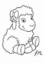 Sheep Coloring Adorable Lambs Coloringsky Drawing Paper Animal Printable Sky Animals sketch template