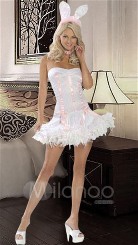 sexy white pink bunny costume milanoocom