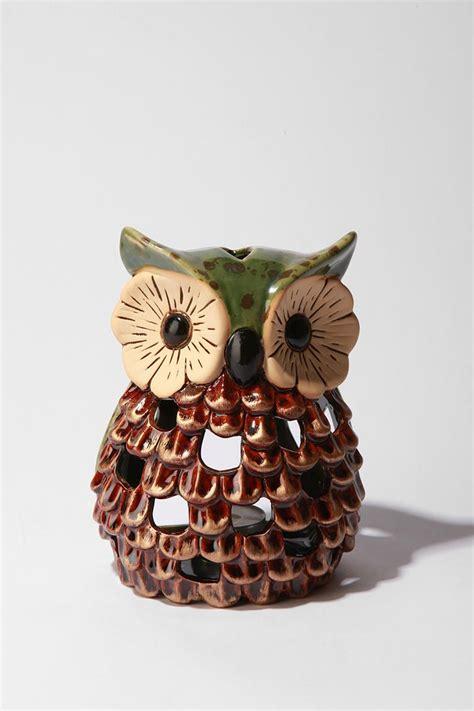 owl candle holder ceramic bright eyed owl tea candle holder candle holders