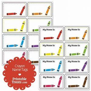best 25 kindergarten name tags ideas only on pinterest With crayon labels template