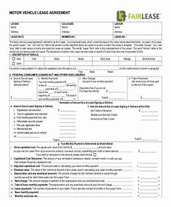 motor vehicle lease agreement template - 15 rental lease agreement free sample example format