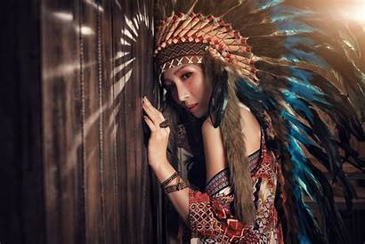 Native American Asian Indian Cherokee Headdress 4k