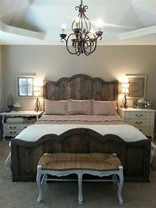 Love my new French farmhouse chic bed and bedroom Rustic