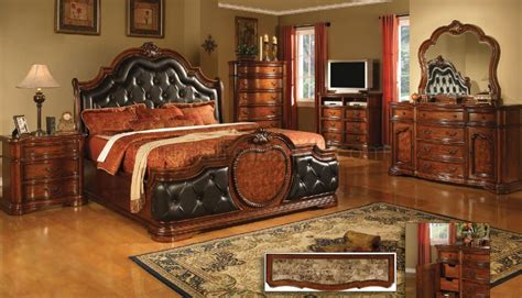 vintage style bedroom furniture antique style cherry finish classic bedroom w optional casegoods