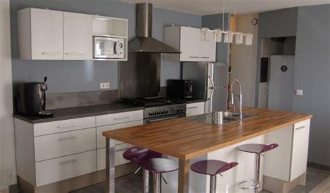 mod鑞e de cuisine avec ilot central exemple cuisine avec ilot central maison design bahbe com