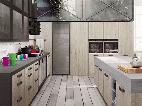 loft cuisine loft kitchen with island sistema collection by snaidero