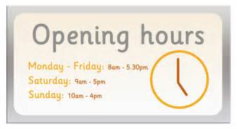 opening hours sign free early years primary teaching resources eyfs ks1