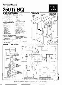 Jbl 250 Ti Bq Service Manual  U2014 View Online Or Download