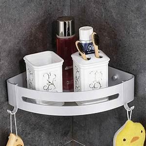 Wall, Hanging, Aluminum, Storage, Rack, Holder, Bathroom, Organizer, Corner, Shower, Shampoo, Shelf, Hook