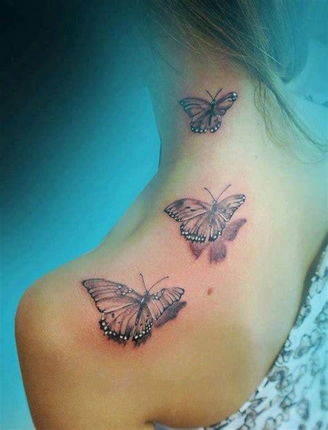 schmetterling arm 3d schmetterlinge schulter hals tattos tatto