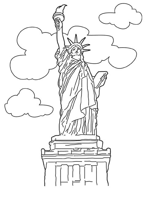 Kleurplaat Nyc by Free Printable Statue Of Liberty Coloring Pages For