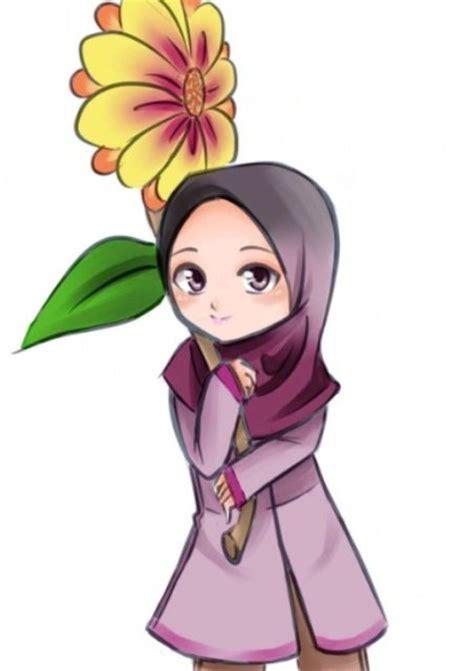 foto anime cantik berambut panjang 13 gambar kartun anak sholeha lucu lucu banget