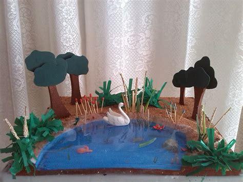 maquetas de ecosistemas con material reciclado ideashot