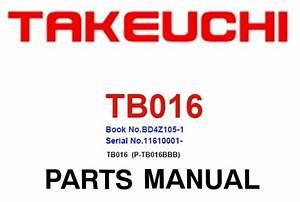 Takeuchi Tb016  P