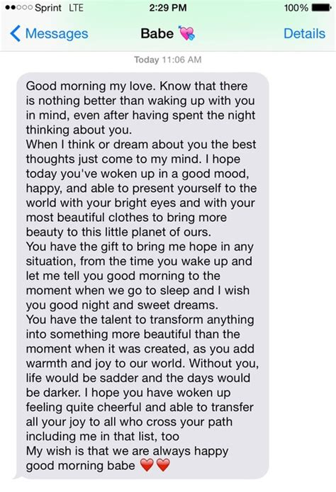 heart  babe iphone  good morning text