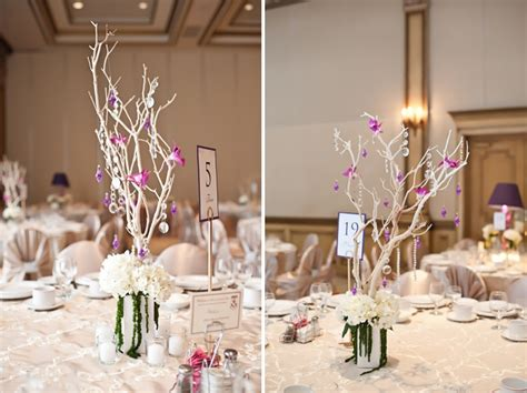 Modern Elegant Champagne And Purple Wedding