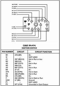 I Need The Wiring Diagram For The Ignition Switch On A